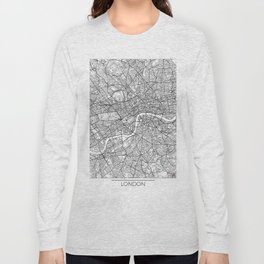 London Map White Long Sleeve T-shirt