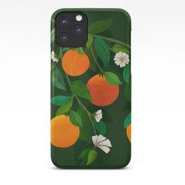 Oranges and Blossoms / Botanical Illustration iPhone Case