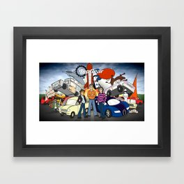 Top Gear Framed Art Print