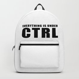 Everything is under CTRL Backpack