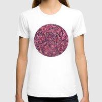 damask T-shirts featuring Damask Pattern 01 by Aloke Design