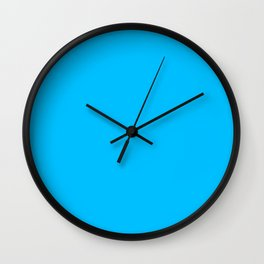 Deep Sky Blue Wall Clock