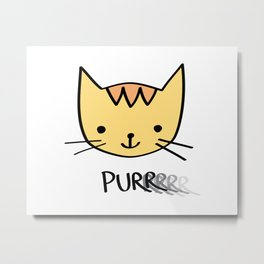 Purrrrrrring with Thunder the Kitten Metal Print