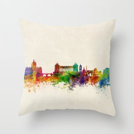 Rome Italy Skyline Throw Pillow