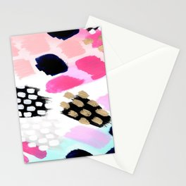 Hot Pink Abstract  Stationery Cards