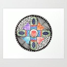 Crossrose Art Print