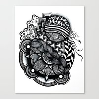 zentangle Canvas Prints featuring zentangle by goyye