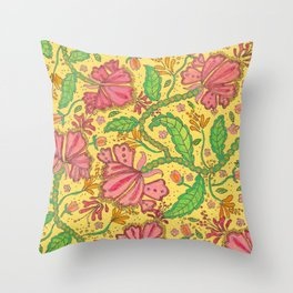 Florally Floral Town Throw Pillow
