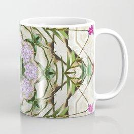 Orchids And Stone Wall Kaleidoscope 1764 Coffee Mug