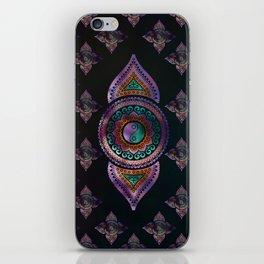 Beautiful  Yin yang in purple teal and orange iPhone Skin