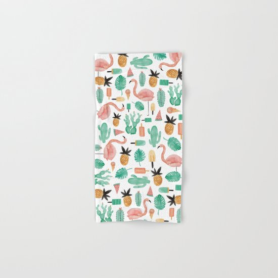 Flamingo Love Hand & Bath Towel