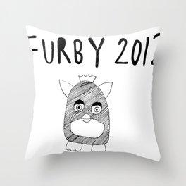 Furby 2012 Throw Pillow