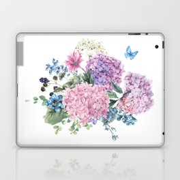 Summer Vintage Hydrangea Laptop & iPad Skin