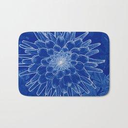 flower on blue Bath Mat