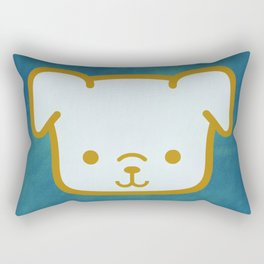 Woof - Dog Graphic - Chalkboard Inspired Rectangular Pillow