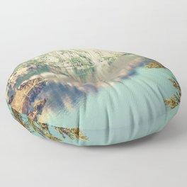 Crater Lake Oregon Phantom Ship Island Floor Pillow