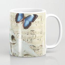 Cow Sugar Skull Music Coffee Mug