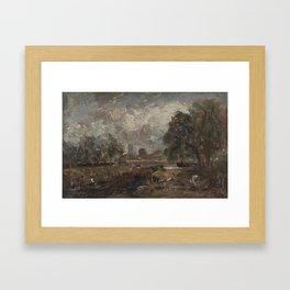John Constable 1776–1837   Dedham Lock and Mill Framed Art Print
