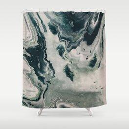 Galaxy Marble Swirl Shower Curtain