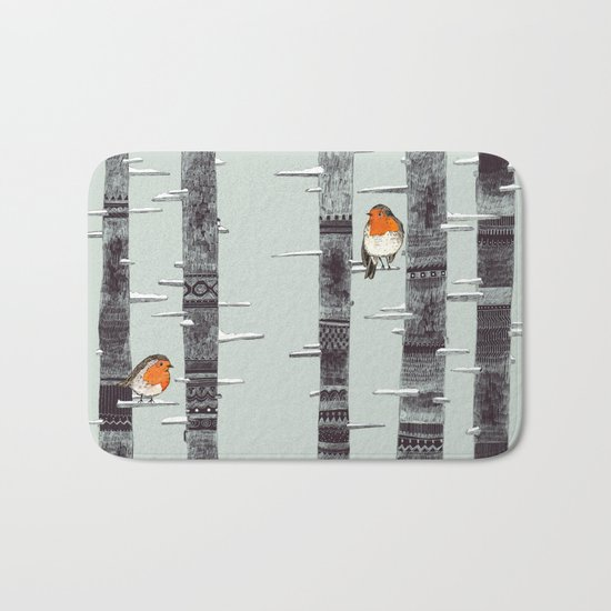 Robin Trees Bath Mat