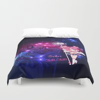 chibi Duvet Covers featuring Sailor Chibi Chibi Moon by Neo Crystal Tokyo
