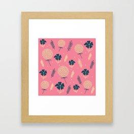 flower pattern spring leaves Framed Art Print