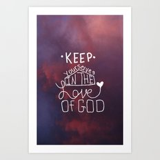 Love of GOD. Art Print