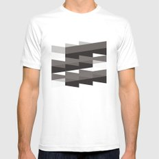 Aronde Pattern #02 MEDIUM Mens Fitted Tee White