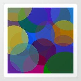 Circulos de colores Art Print