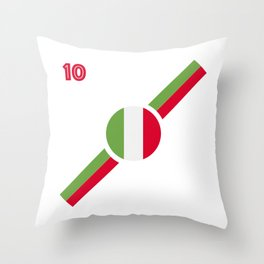 Italian flag soccer team jersey Throw Pillow