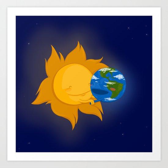 Global Warming #1 Art Print