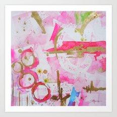 Pink Glam Art Print