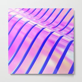 Iridescent Wave Metal Print