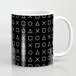 gamer pattern black and white  - gaming design black Coffee Mug