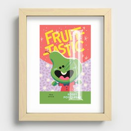 Rosey Posey Pear Recessed Framed Print