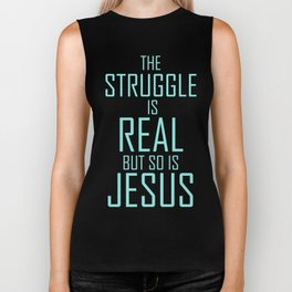 Jesus is Real Christian Biker Tank