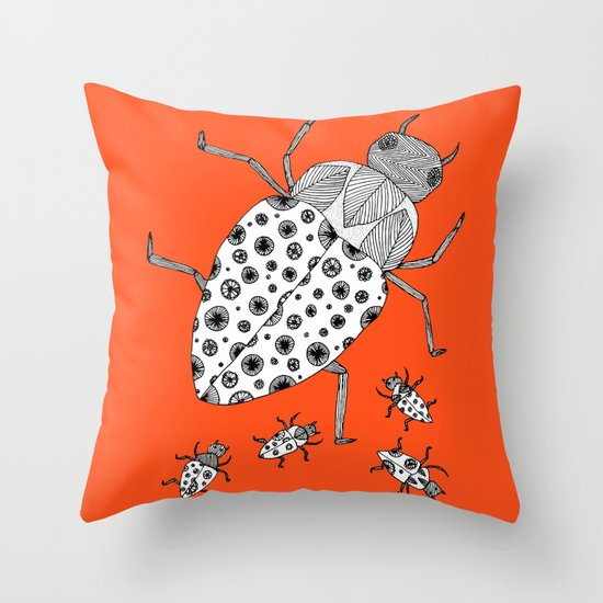 Roach Family Throw Pillow