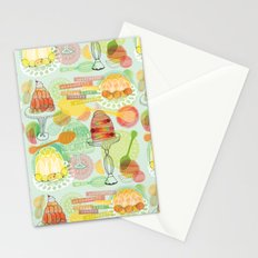 Fruity Fun Jelly Desserts Stationery Cards