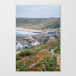 Seaside Village Canvas Print