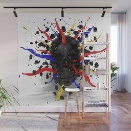 Skull Explode Wall Mural
