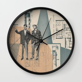 Architecture in the making Wall Clock