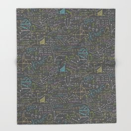 Math Lesson Throw Blanket