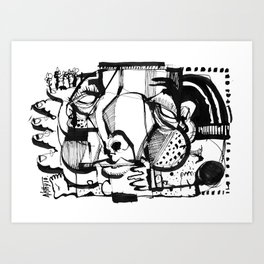 Quality Time - b&w Art Print