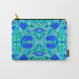 Boho Patchwork in Cool Tones Carry-All Pouch