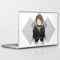 arya stark Laptop & iPad Skins featuring Arya Stark by itsamoose