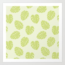Monstera trendy - green Art Print