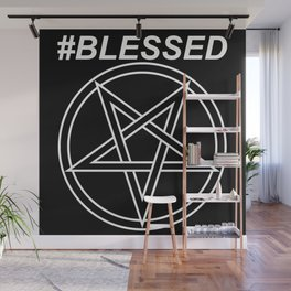 #BLESSED INVERTED Wall Mural