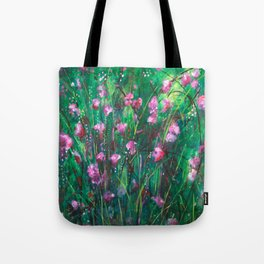 """WOODLAND SPRING"" Original Painting by Cyd Rust Tote Bag"