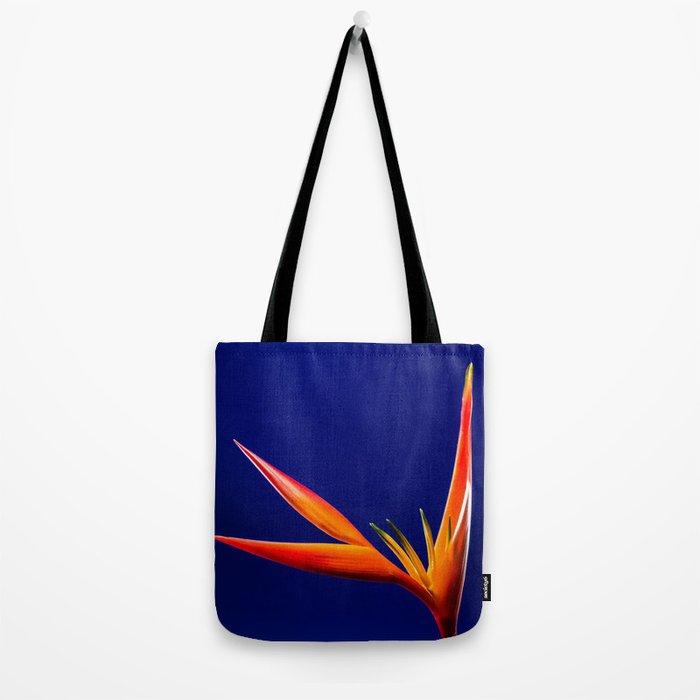 Flower orange blue 7 Tote Bag