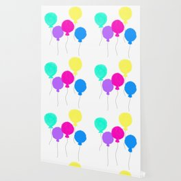 Fly Freely - Colorful Balloons Illustration Wallpaper